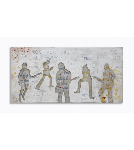 Dipinto su tela rock cm 120x3x60