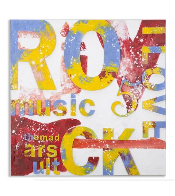 Dipinto su tela music 5 cm 100x3,5x100