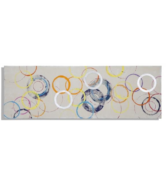 Dipinto su tela floating rings -b- cm 150x3x50