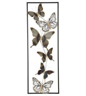Pannello in ferro farfalle cm 31x2,5x90