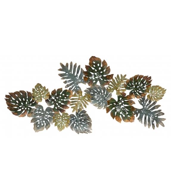 Pannello in ferro foglie cm 129,50x6x67