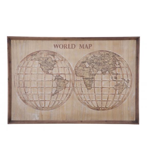 Pannello world map cm 120x4x80