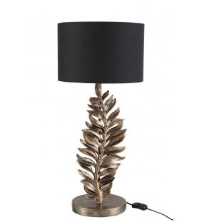 Lampada da tavolo Foglie Oro brunito H67 cm