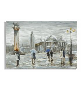 Dipinto su tela old city cm 120x3,7x80