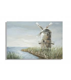 Dipinto su tela mulino cm 120x3,7x80