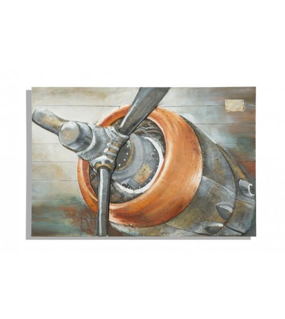 Dipinto su tela aviator cm 120x3,7x80