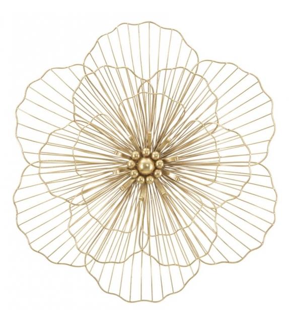 Pannello in ferro flower stick cm 58,5x7,5x55