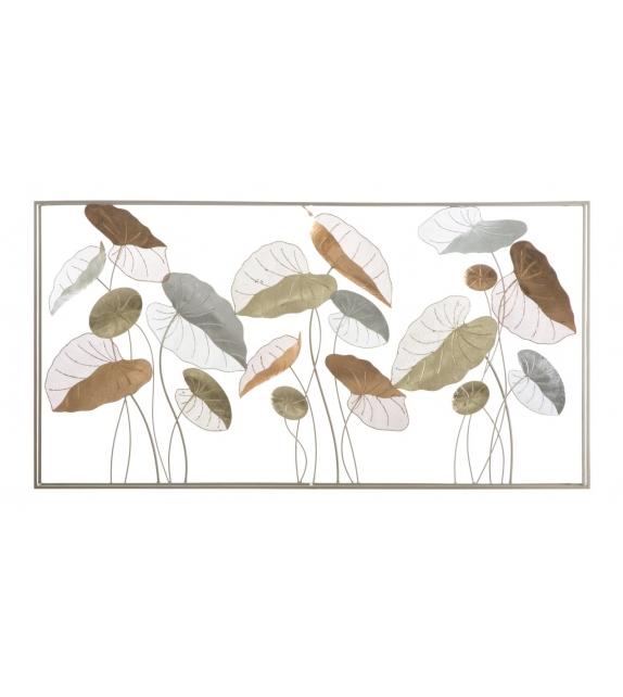 Pannello in ferro lotus frame cm 134,5x7,5x68,5