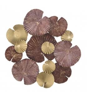 Pannello in ferro round leaf cm 68,5x6x66,5