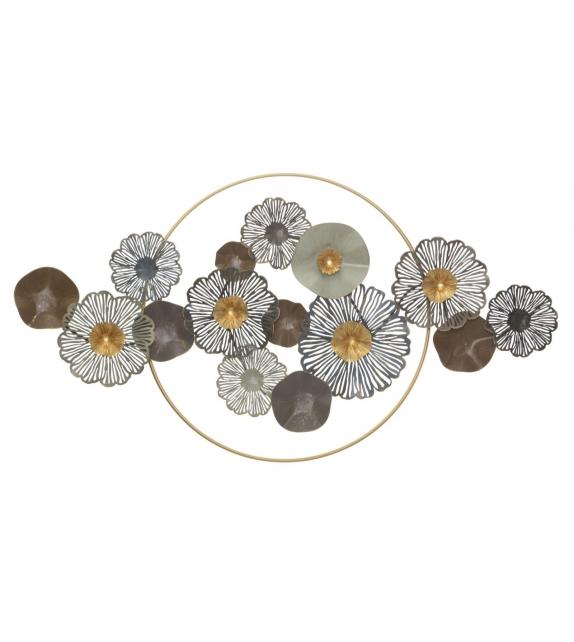 Pannello in ferro flower circle cm 155x8,5x85