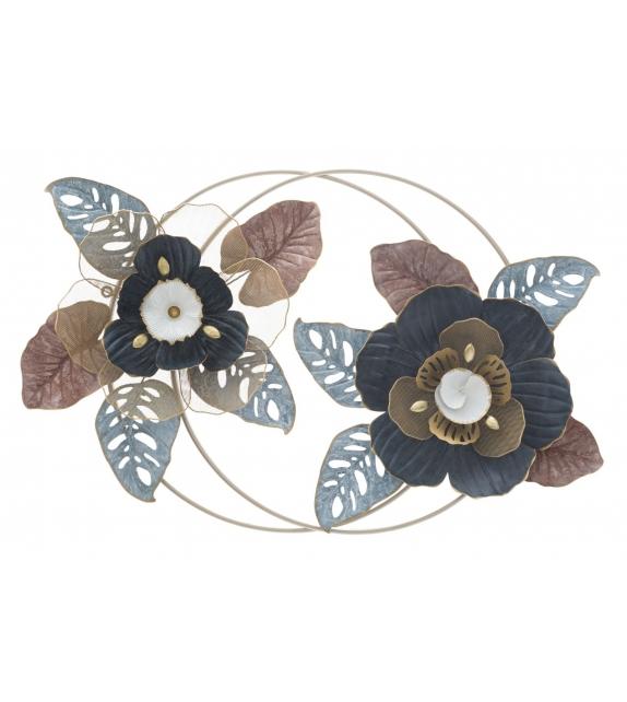 Pannello in ferro flower dop cm 93x11x61,5