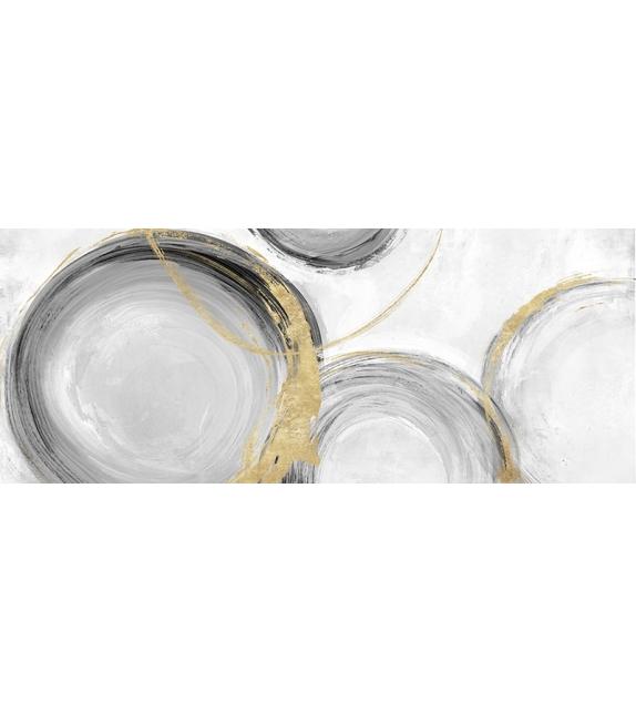 Dipinto su tela circly cm 150x3,8x60