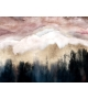 Dipinto su tela pink mountain cm 80x2,7x60