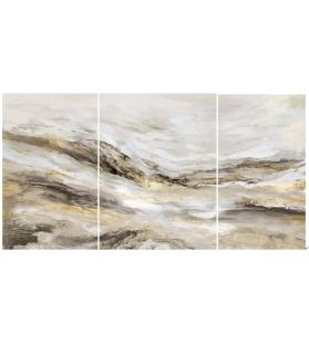 Dipinto su tela monty set 3 pz cm 45x2,7x80-60x2,7x80