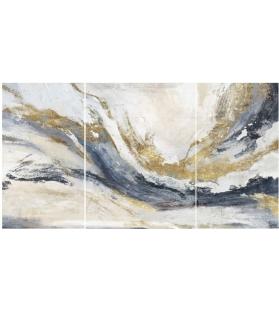 Dipinto su tela gaspons set 3 pz cm 45x2,7x80-60x2,7x80
