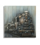 Dipinto su tela train cm 80x3,7x80