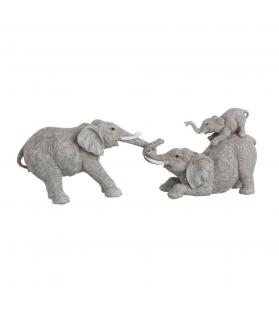 Statua decorativa Elefanti che giocano Resina 49x10x18 cm