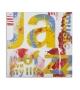 Dipinto su tela music cm 100x3,5x100