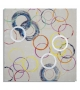 Dipinto su tela floating circles -b- cm 80x3x80