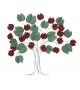 Pannello in ferro albero bix cm 105x6,5x94