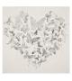 Dipinto su tela silver heart cm 80x3x80