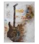 Dipinto su tela guitar art cm 90x3,5x120