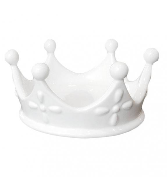 Corona Svuotatasche Porta gioie Regina Queen Porcella Bianca