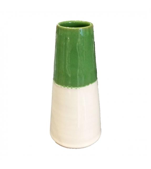 Vaso Porta Fiori Verde Piccolo Ceramica H cm
