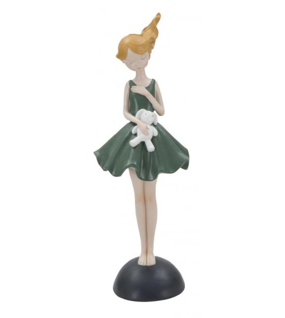 Statuetta dolly c/coniglietto cm 11,5x10x33,5
