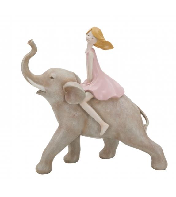Statuetta dolly su elefante cm 22x10x21