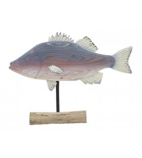 Scultura pesce cm 60x10x44