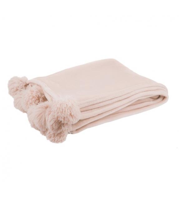Plaid Pon Pon rosa 170x130 cm