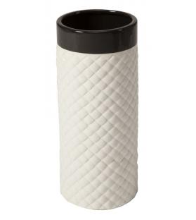 Vaso ceramica basket bianco/nero picc. Cm 19x43