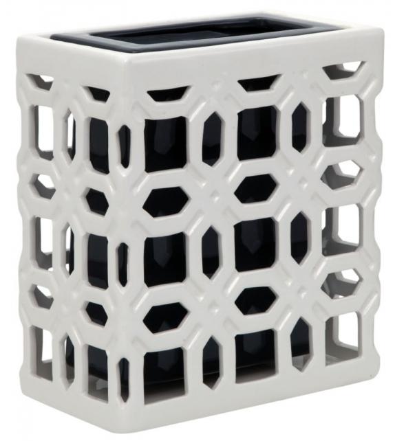 Vaso ceramica arabesque square picc. Cm 20x11,5x22,5