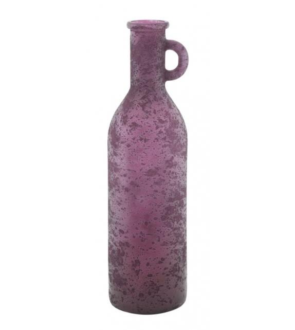 Vaso vetro riciclato bordeaux cm Ø 13x50 (made in spain)