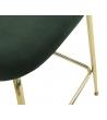Sgabello Glam Luxury Verde Oro 50 x 97 x 53 cm