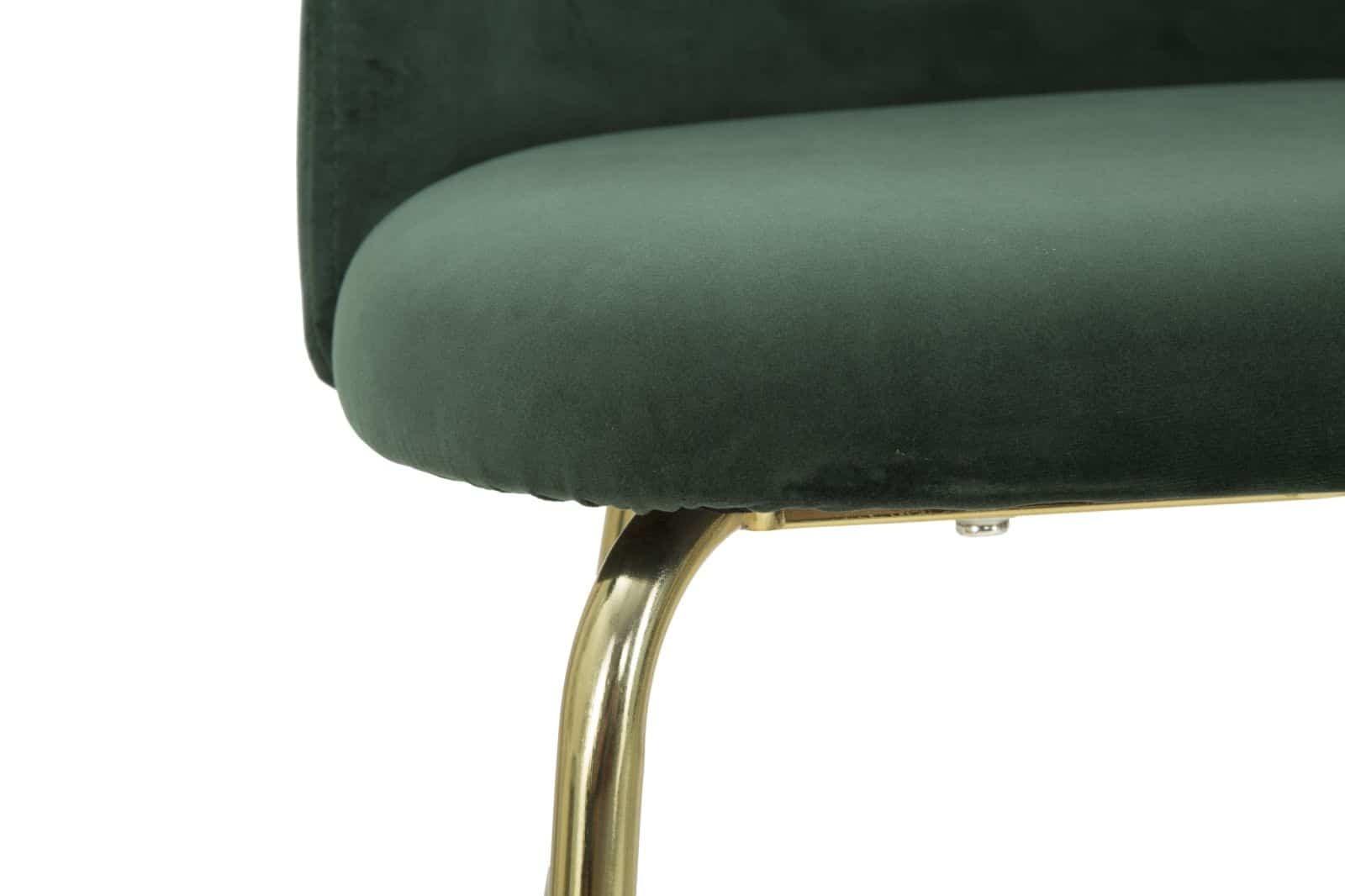 Sgabello glam luxury verde oro 50 x 97 x 53 cmbekreative