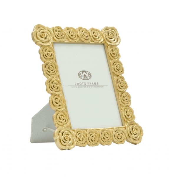 Cornice Porta Foto 15x20 Roses Glam Oro 24x2x28 cm