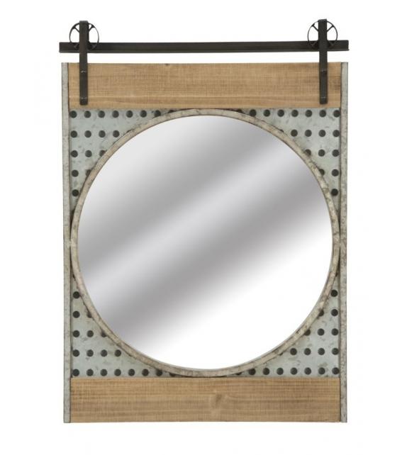 Specchio da muro west cm 63,5x4x89 (misura specchio Ø cm 57)