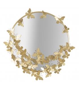 Specchio farfalle round cm 74x4x75 (misura specchio cm Ø 60)