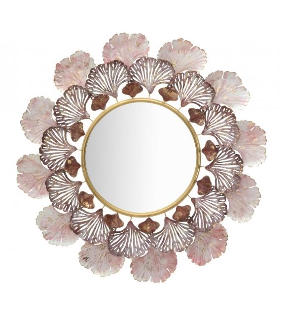 Specchio in ferro leaves cm Ø 94x7