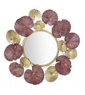 Specchio in ferro leaf cm 71x6x69,5