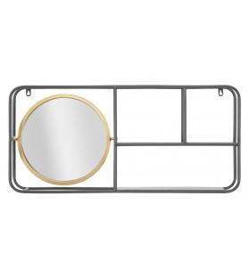Specchio circle c/mensole industry cm 74,5x12x35