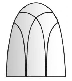 Specchio da muro dark cm 90x2,5x110 (misura specchio cm 87x108)