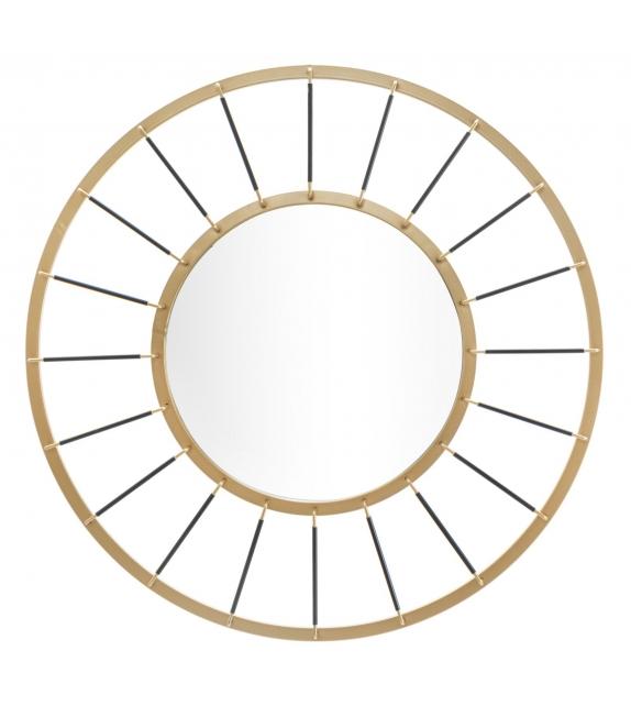 Specchio da muro glam dark cm Ø 81x6,5 (misura specchio cm Ø 41,5)
