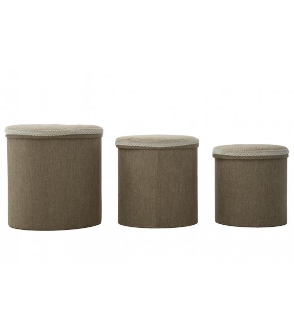 Cestone brown round tris cm 44x44 - 38x38 - 34x34