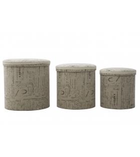 Cestone writings round tris cm 44x44 - 38x38 - 34x34