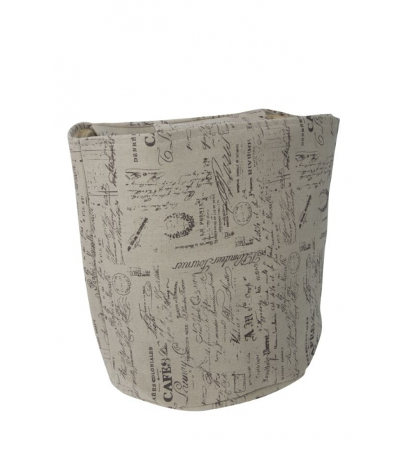 Cestone home bag writings Ø cm 40x45