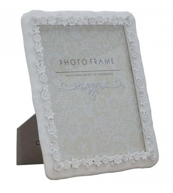 Cornice Porta Foto 20x25 Flower Power bianco 25,3x2,2x30,3 cm