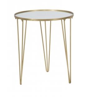Tavolinetto da caffe' glam gold/mirror cm Ø 50x58,5